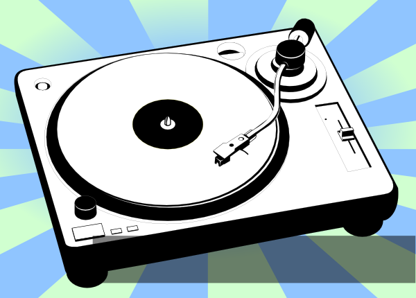 Turntable Dj Rcord Player Clip Art At Clker Com Vector