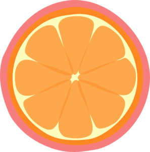 Image Gallery orange slice clip art