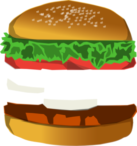 Burger With Space Clip Art