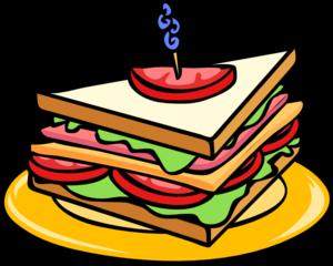 sandwich half clip art at clker com vector clip art online rh clker com sandwich clipart image sandwich clipart vector
