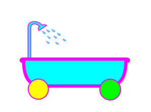 Tub On Wheels Clip Art