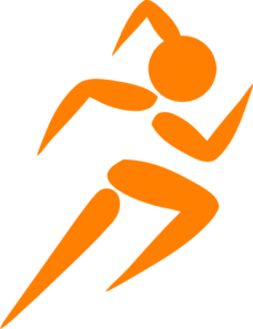 Girl Running Orange Clip Art