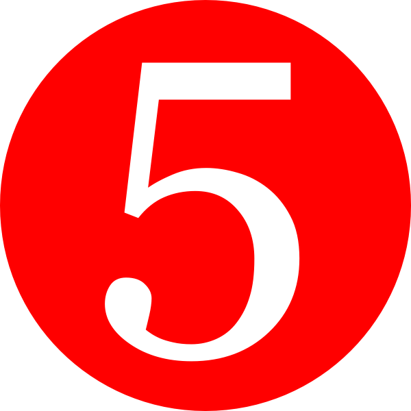 Red, Rounded,with Number 5 Clip Art at Clker.com - vector clip art ...