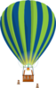 Green And Blue Hot Air Balloon Clip Art
