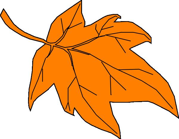 orange leaf clip art - photo #11