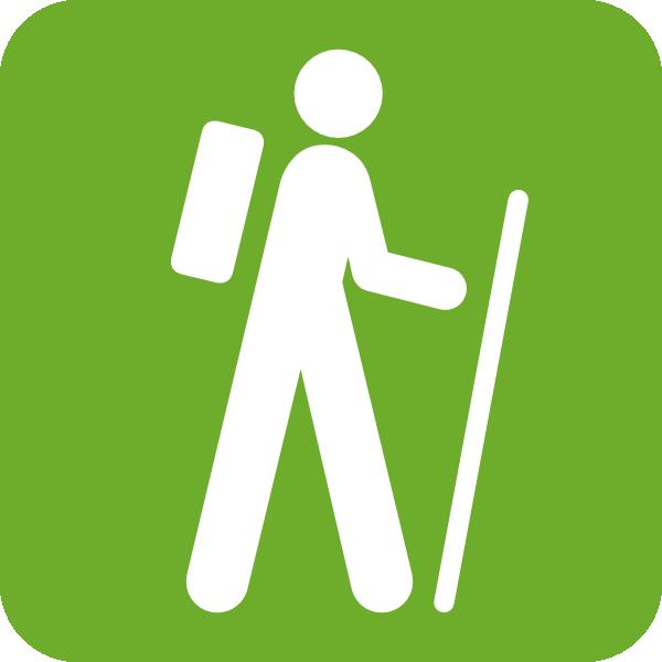 Green Hiker Clip Art at Clker.com - vector clip art online ...