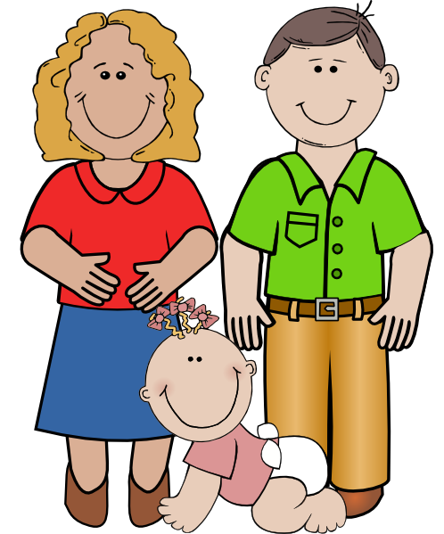 smiling family clip art at clker com vector clip art online rh clker com family clip art silhouette family clip art images free