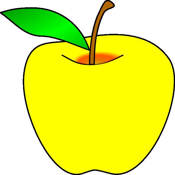Yellow Apple Clip Art at Clker.com - vector clip art ...