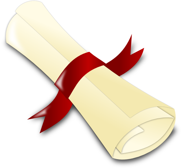 Diploma [crimson] Clip Art at Clker.com - vector clip art ...