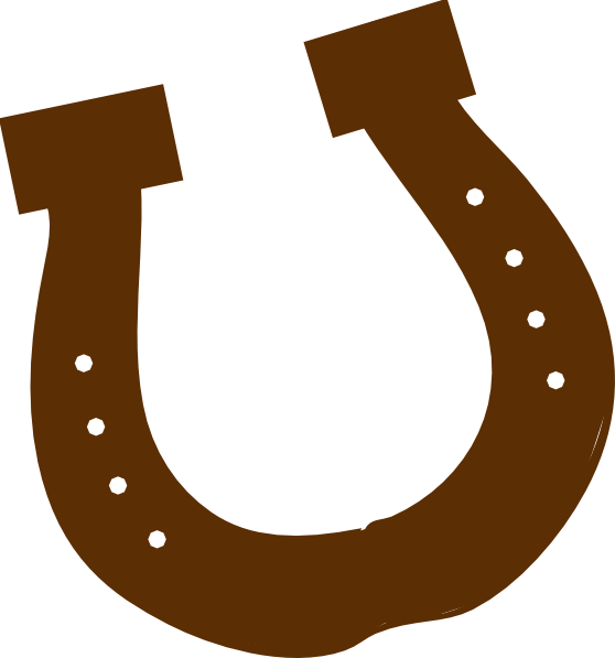 Horse Shoe Clip Art Brown Rodeo Horseshoe ...