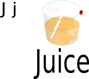 Juice With Straw Clip Art