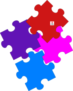 Jigsaw Puzzle-rearranged Clip Art