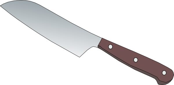 Kitchen Knife Clip Art ~ Kitchen knife clip art at clker vector