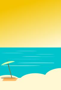 Beach Background 5 Clip Art at Clker.com - vector clip art ...