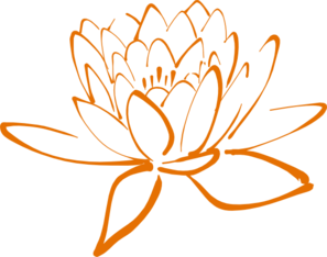 Orange Lotus Clip Art