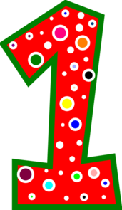 Number 1 Pink And Green Polkadot Clip Art at Clker.com - vector clip ...