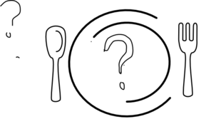 Question Mark Dinner Plate Clip Art