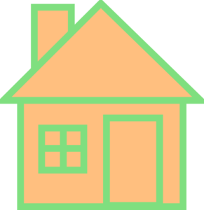 Orange House Clip Art