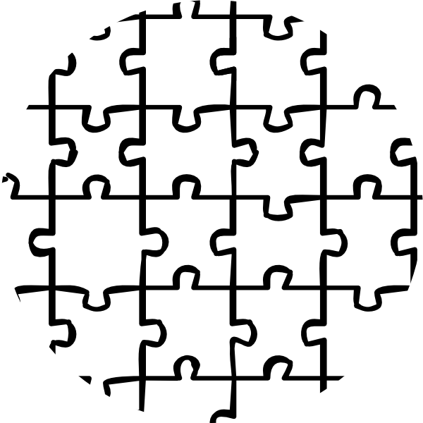 Circular Puzzle Piece Clip Art At Clker Com Vector Clip