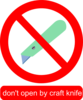 No Knives Clip Art