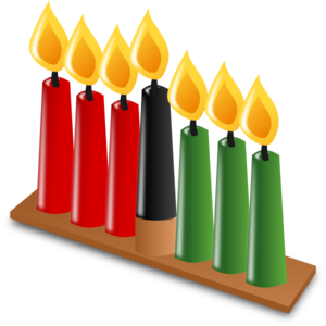 Kwanzaa Candles Clip Art