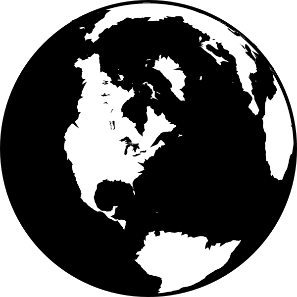 planet earth clipart black and white - photo #27