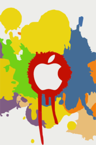 Apple Color Splash Effect Iphone Wallpaper Ilikewallpaper Com Clip Art