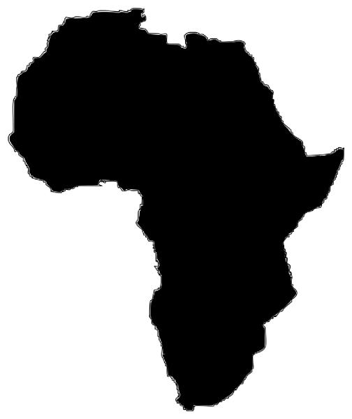africa map stencil