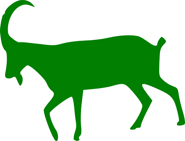 Green Goat Clip Art at Clker.com - vector clip art online, royalty ...