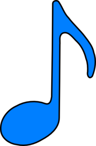 Eighth Note Blue Clip Art