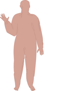 Male Body Five Clip Art