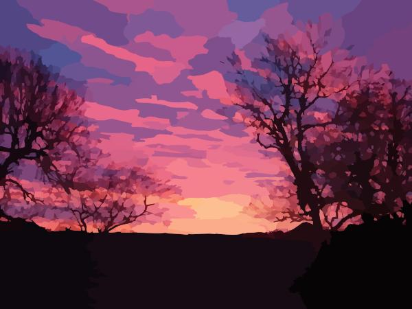 Sunrise clip art - vector clip art online, royalty free & public domain