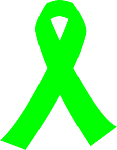 Lime Green Cancer Ribbon Clip Art