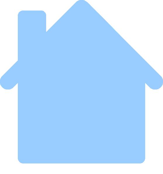 Blue Cartoon House | lol-rofl.com