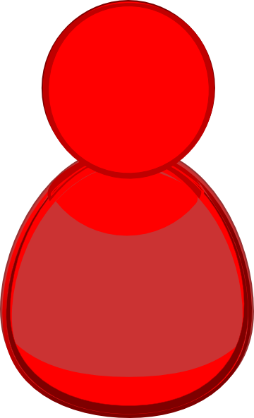 Red Person Icon Clip Art at Clker.com - vector clip art ...
