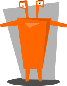 Orange Space Alien Clip Art