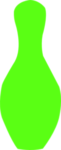 Lime Green Bowling Pin Clip Art