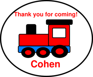 Thank You Birthday Train Clip Art