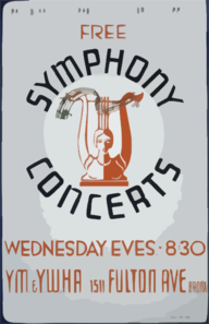Wpa Federal Music Project Of New York City Presents Free Symphony Concerts Clip Art