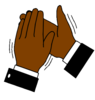 Black Hand Clapping Clip Art
