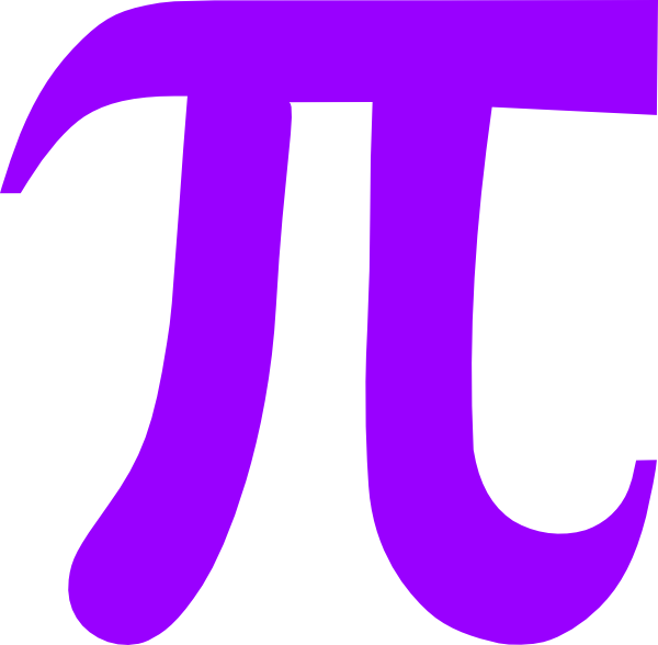Light purple pi clip art at vector clip art for Pi character