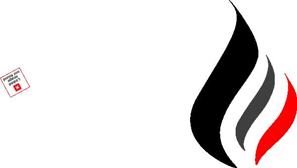 B Amp W Flame Logo Clip Art At Clker Com Vector Clip Art