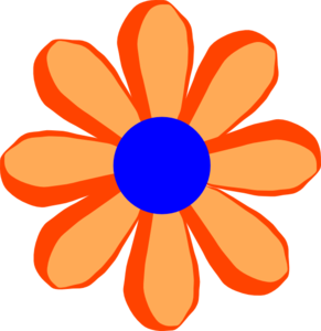 Flower Cartoon Orange Clip Art