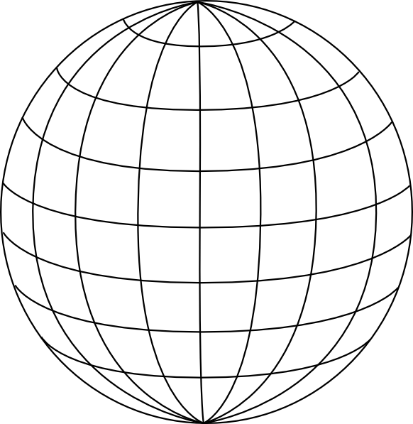 Black 3pt wire globe clip art at vector clip for 3d drawing online no download