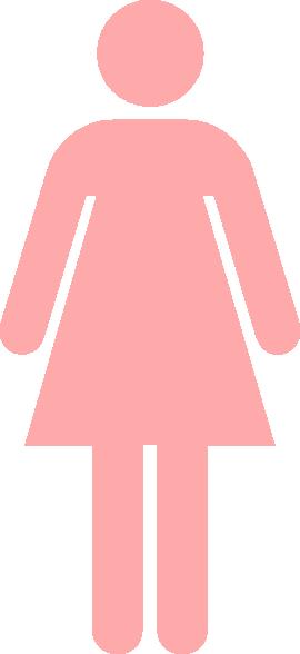 Ladies Bathroom: Ladies Bathroom Symbol Pale Pink Clip Art At Clker.com