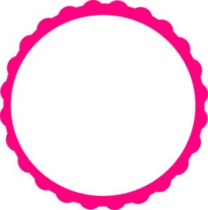 Pink Scallop Circle Frame Clip Art