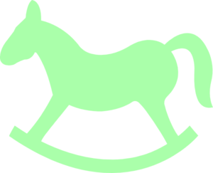 green rocking horse clip art at clker com vector clip art online rh clker com rocking horse clip art black and white Rocking Horse Silhouette