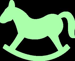 green rocking horse clip art at clker com vector clip art online rh clker com rocking horse clipart black and white rocking horse image clipart