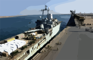 Umm Qsar, Iraq (mar. 28, 2003) -- The Royal Fleet Auxiliary, Landing Ship Logistic Rfa Sir Galahad (l 3005) Arrives In The Iraqi Port City Of Umm Qsar Clip Art