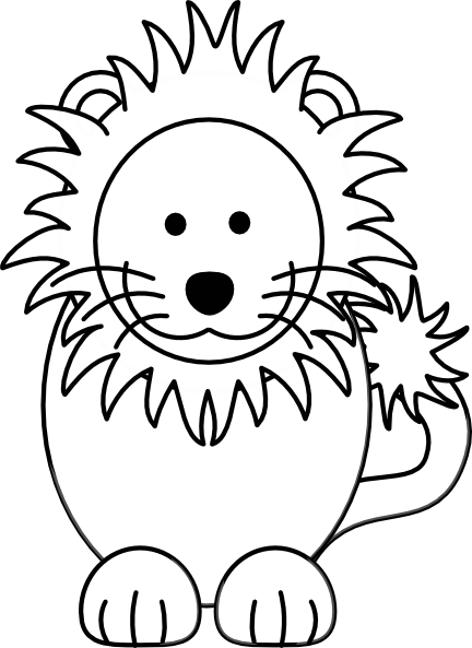 Black and white lion clip art - photo#25
